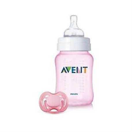 Avent - GIFT SET - FLASICA + VARALICA PINK