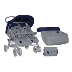 Bertoni - kolica za blizance blue&grey
