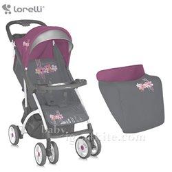 Bertoni - kolica smarty grey&pink spring