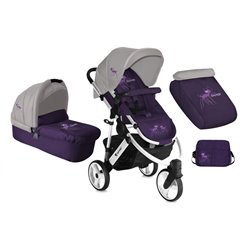 Bertoni - kolica monza 3 violet&grey miss bambi