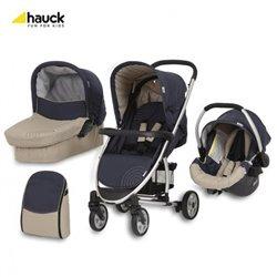 Hauck trio sistem(kolica+nosiljka+auto sedište)Malibu moonlight almond