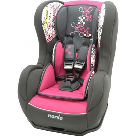 Nania Cosmo auto sedište 0-18kg 0/1 Corail framboise - sivo roze