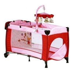 BabyGO prenosivi krevetac Sleeper deluxe pink