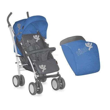 Bertoni kolica S-100 + footcover bluen&grey kids