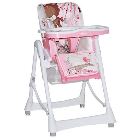 Bertoni Lorelli Stolica za hranjenje beba Primo Pink bear