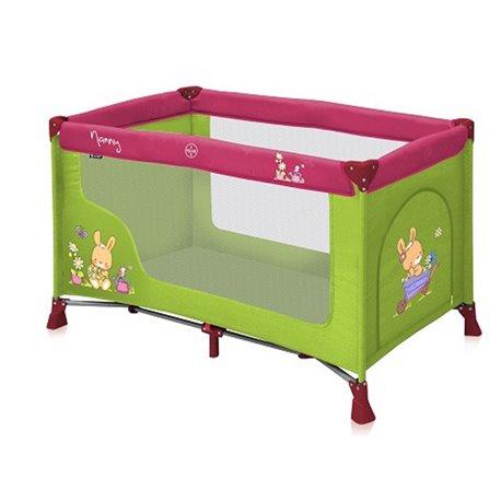 Bertoni krevet torba Nanny 1 nivo green&pink bunnies
