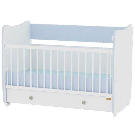 Bertoni Drveni krevetac za bebu Dream White Blue