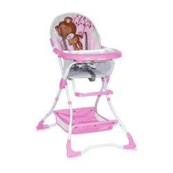 Bertoni Lorelli Visoka stolica za bebe Bravo Pink Bear