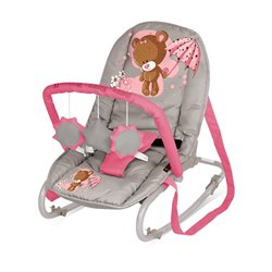 Bertoni Lorelli Ležaljka - njihalica za bebe Top Relax Beige&Pink Bear