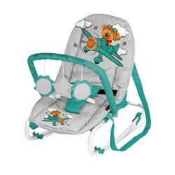 Bertoni Lorelli Ležaljka - njihalica za bebe Top Relax Grey&Green Pilot