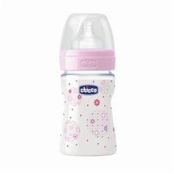Chicco flašica wellbeing 150ml sa cuclom od silikona, devojčice