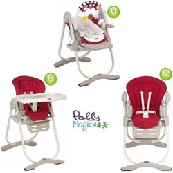 Chicco hranilica Polly Magic scarlet crvena