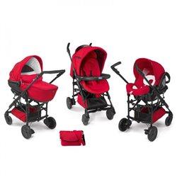 Chicco Trio Living smart red-crveni(kolica+auto sedište+nosiljka)