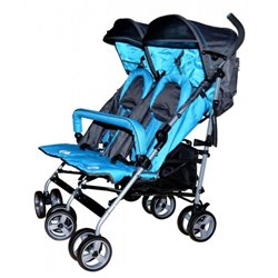Puerri kolica za blizance DoubleLite plava