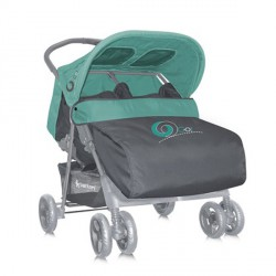 Kolica za Blizance Twin Green & Gray + Mama Bag