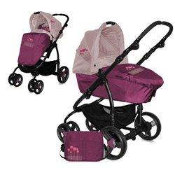 Bertoni - kolica za bebe avio violet pink flowers