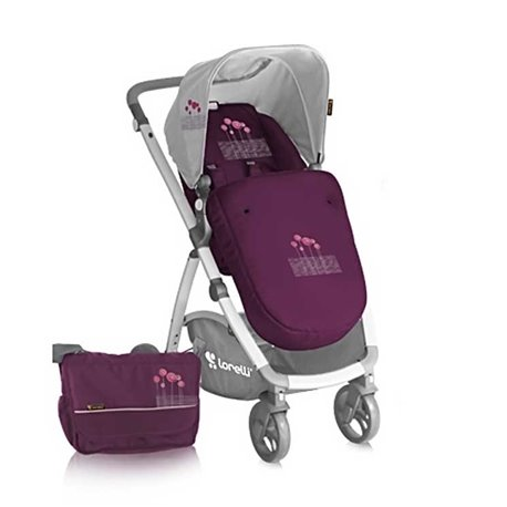 Bertoni - kolica  evo 2in1 volet pink flowers+bag