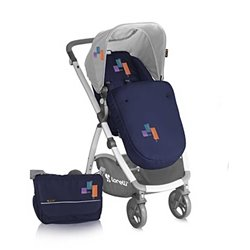 Bertoni - kolica evo 2u1 blue fashion+bag