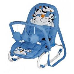 Bertoni - lezaljka top relax with toy blue pandas