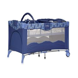 Bertoni - Prenosivi krevetac travel kid 2 nivoa blue puzzle