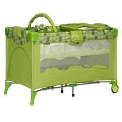 Bertoni - Prenosivi krevetac travel kid 2 nivoa green puzzle