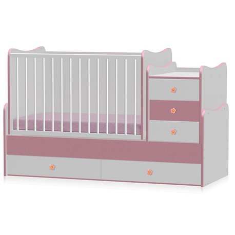 Bertoni - krevet maxi plus 70/160 white pink