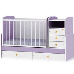 Bertoni - krevet maxi plus 70/160 white violet
