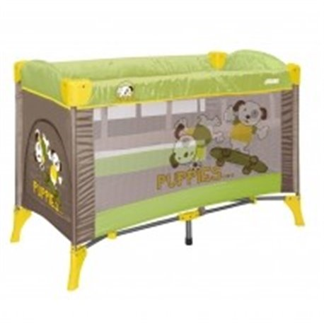Bertoni - Prenosivi krevetac arena 2 layers green beige puppies 2014