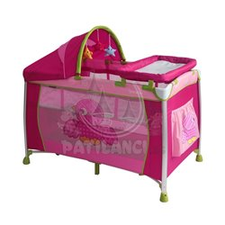 Bertoni - Prenosivi krevetac dreamer 2 layers birds pink