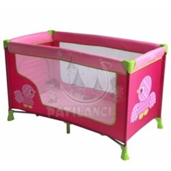 Bertoni - krevet torba nanny 1 layer birds pink