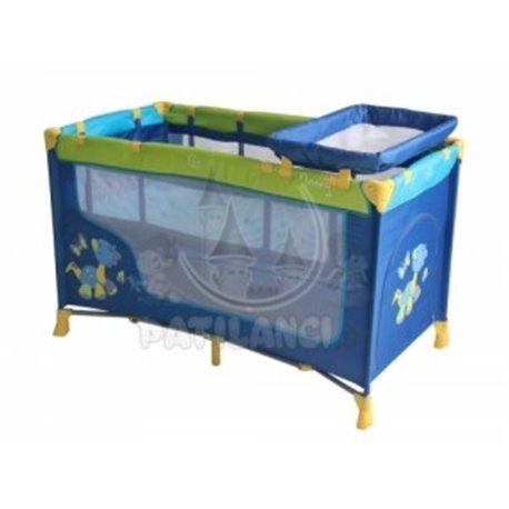 Bertoni - Prenosivi krevetac nanny 2n dinos blue