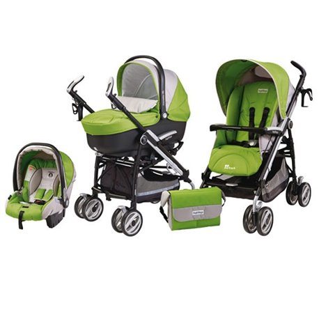 Peg Perego - SET MODULAR ON TRACK GREEAN TEA