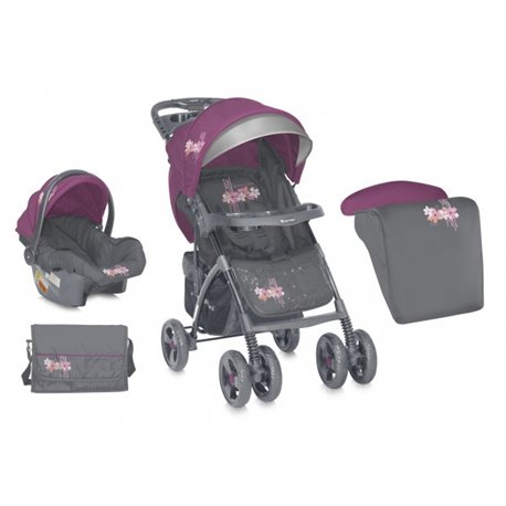 Bertoni - kolica za bebe rio set grey rose