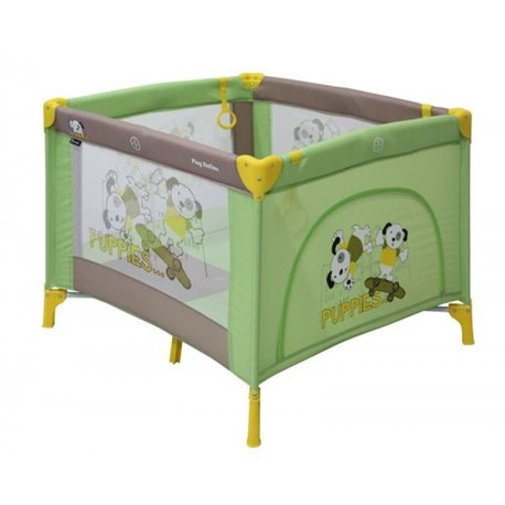 Bertoni - ogradica play station green&beige puppies
