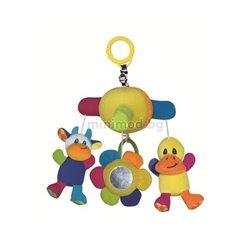 Bertoni - vrteska za kolica za bebe baby musical mobile duck- cow