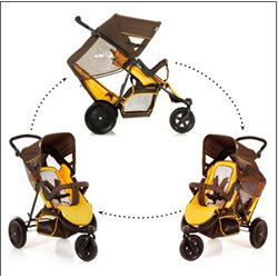 Hauck kolica za blizance Freerider - brown