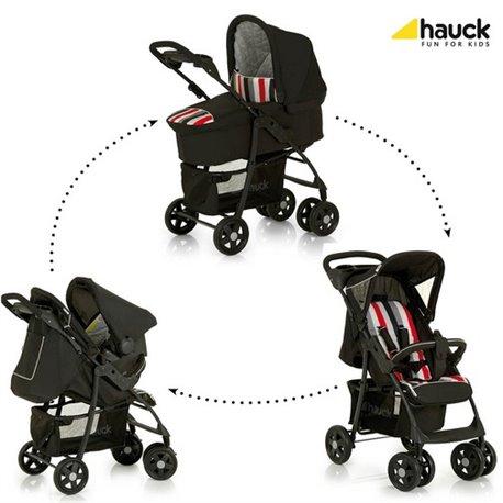 Hauck trio set (kolica+nosiljka+auto sedište) Shopper rainbow black