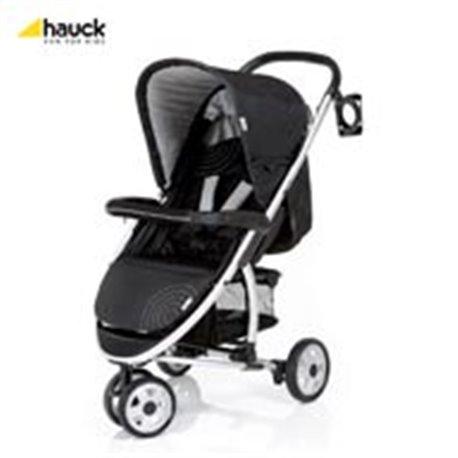 Hauck kolica za bebe Miami caviar silver - crno siva
