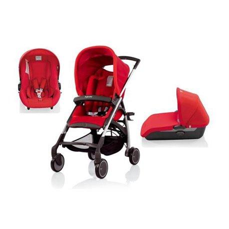 Inglesina kolica Avio+čvrsta nosiljka+auto sedište Avio (0-13kg) Red